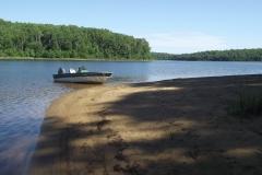 Plage-bateau Baie Philomène